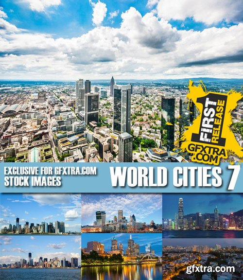 Stock Photos - World Cities 7, 25xJpg