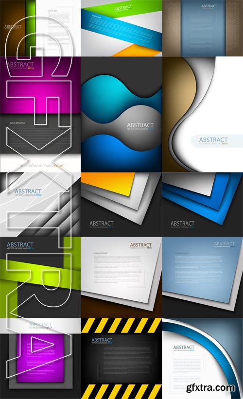 Stock Vectors - Abstract Background Paper, 25xEps