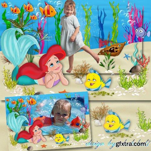 Children\'s Frame for Photoshop - Baby Ariel