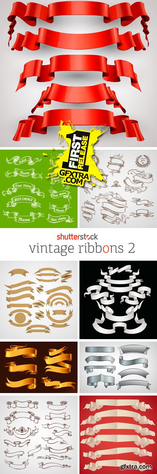 Amazing SS - Vintage Ribbons 2, 25xEPS