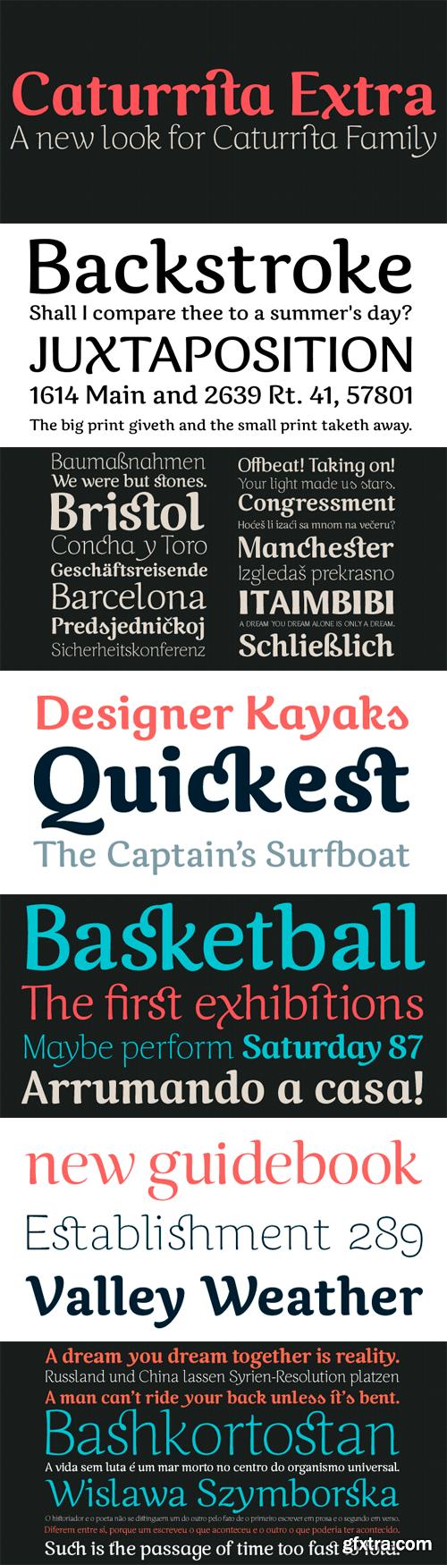 Caturrita Font Family - 5 Fonts for $40