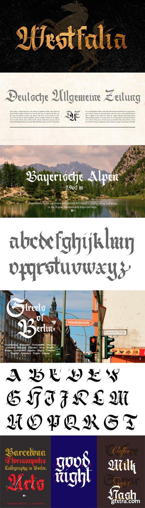 Berliner Fraktur Font for $49