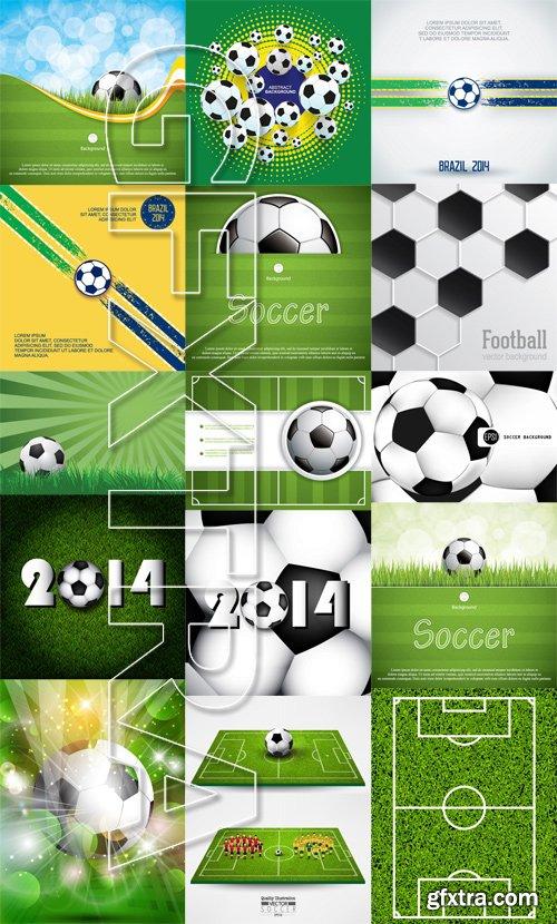 Stock Vectors - Football, soccer vector background 2, 25xEPS