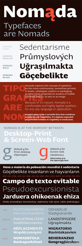 Nomada Font Family - 4 Fonts for $130