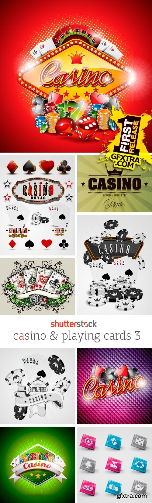 Amazing SS - Casino & Playing Cards 3, 25xEPS