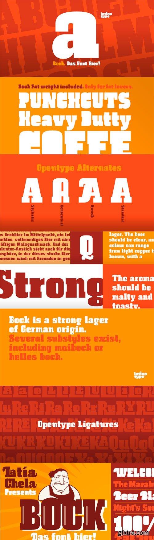 Bock Font Family - 2 Fonts for $49