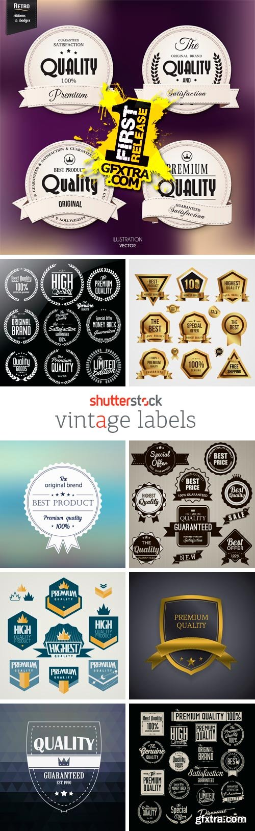 Amazing SS - Vintage Labels, 24xEPS