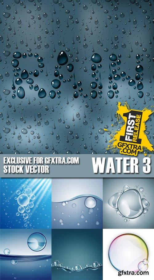 Stock Vectors - Rain, Splash Water, Drops 3, 25xEPS