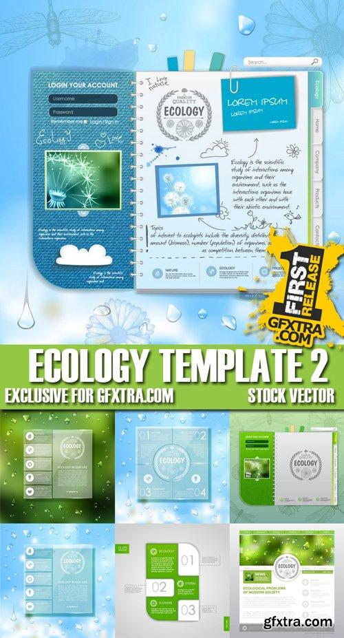 Stock Vectors - Ecology template 2, 25xEPS