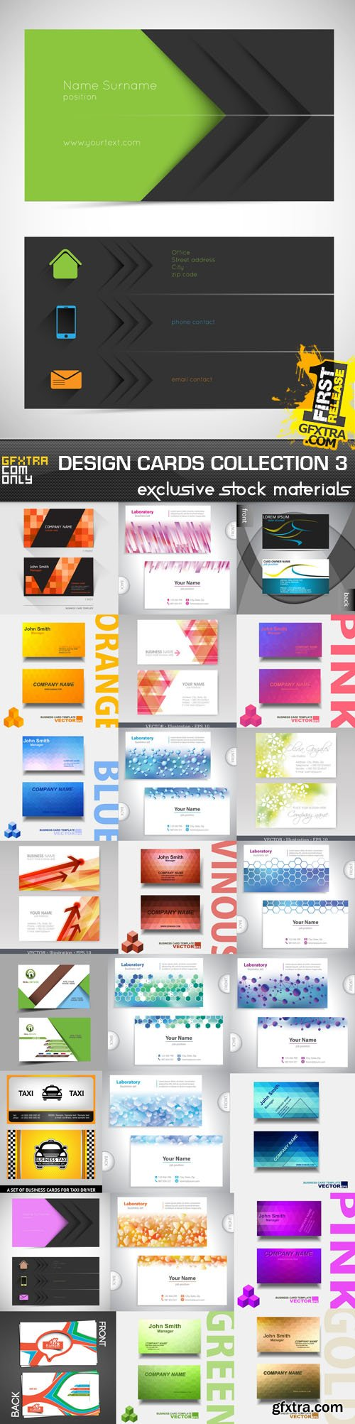 Design Cards Collection 3, 25xEPS