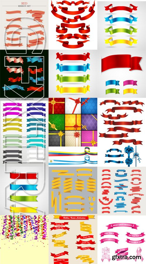 Stock Vectors - Ribbons, 25xEps