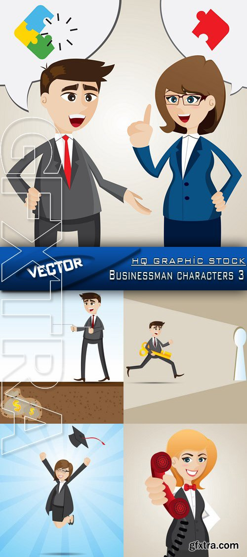 Stock Vector - Businessman characters 3