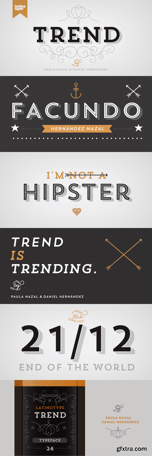Trend Font Family - 21 Fonts for $159