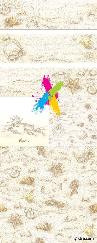 Summer Beach Sand Backgrounds Vector
