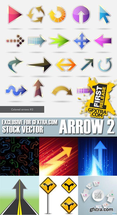 Stock Vectors - Arrow 2, 25xEPS