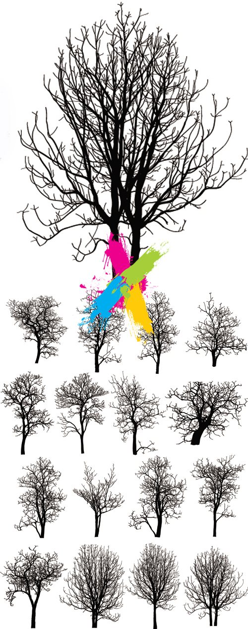 Dead or Winter Trees Vector