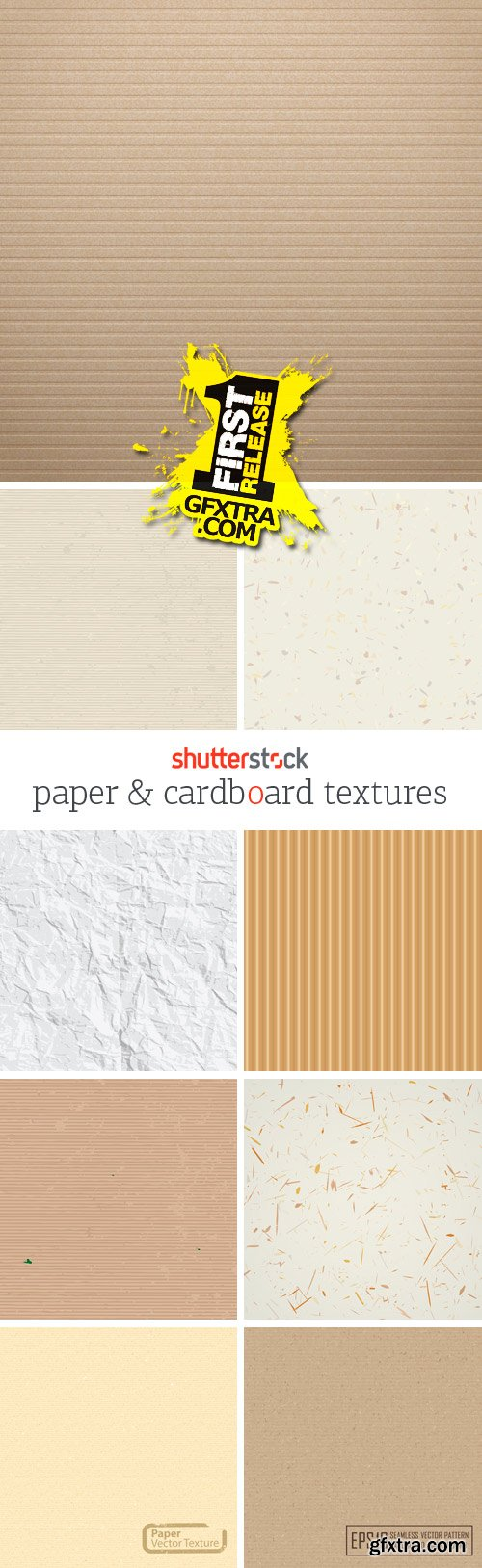 Amazing SS - Paper & Cardboard Textures, 25xEPS