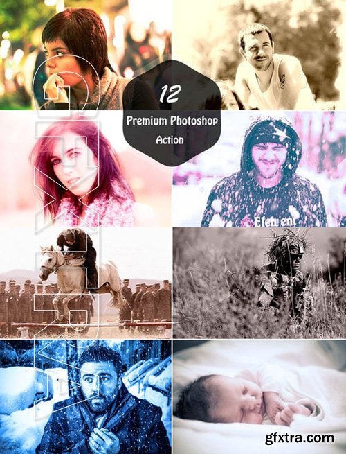 12 Premium Photoshop Actions