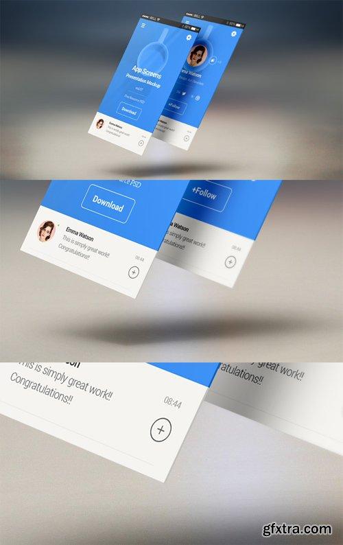 App Screens Presentation Mockup vol 7