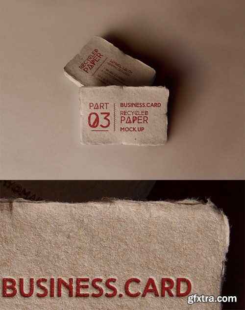 Business Card Recycled Paper Mock up Part 3