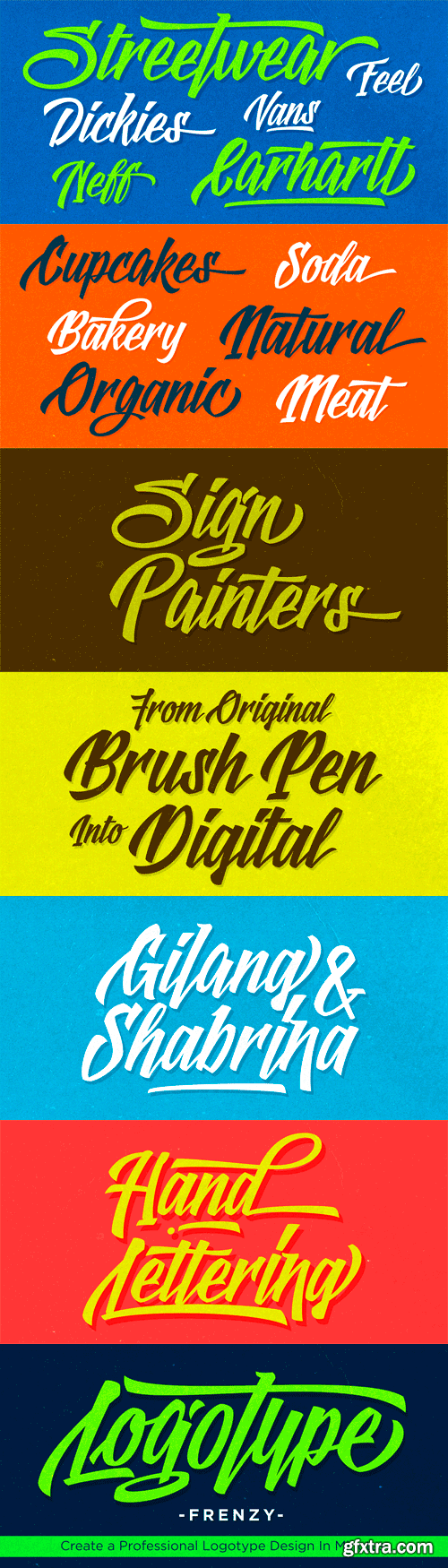 Logotype Frenzy Font for $40