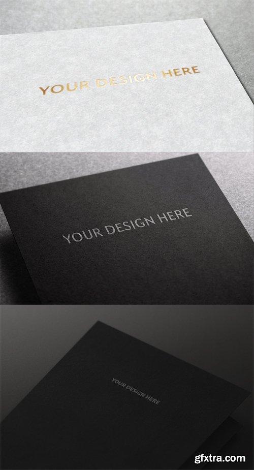 3 Logo Mock ups on Paper Letters