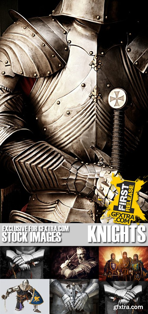 Stock Photos - Knights, 25xJPG