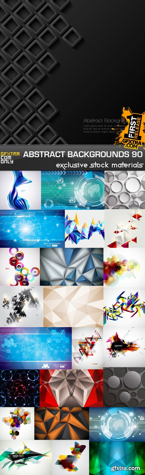 Collection of Vector Abstract Backgrounds Vol.90, 25xEPS
