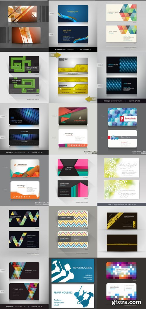 Design Cards Collection 4, 25xEPS