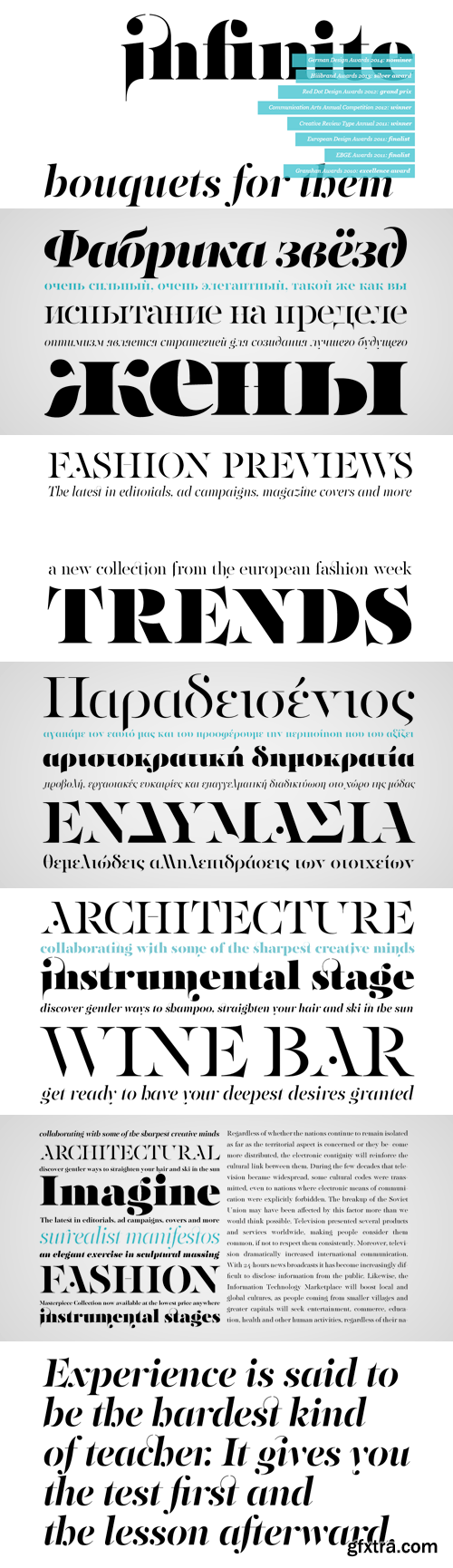 PF Regal Stencil Pro Font Family - 10 Fonts for €625