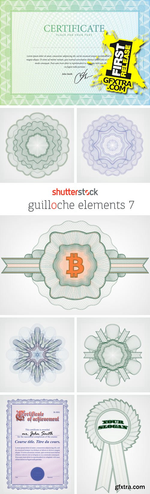 Amazing SS - Guilloche Elements 7, 25xEPS