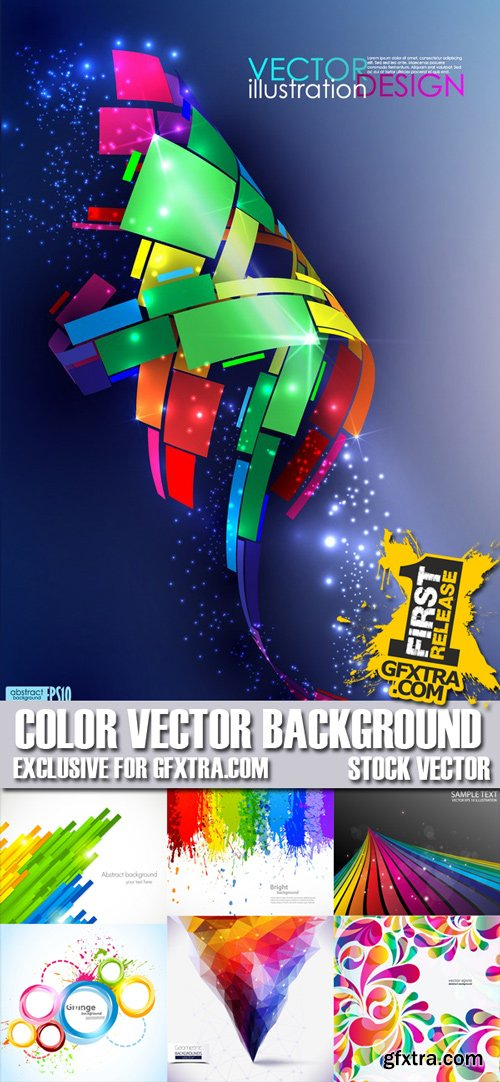 Stock Vectors - Color Background, 25xEPS