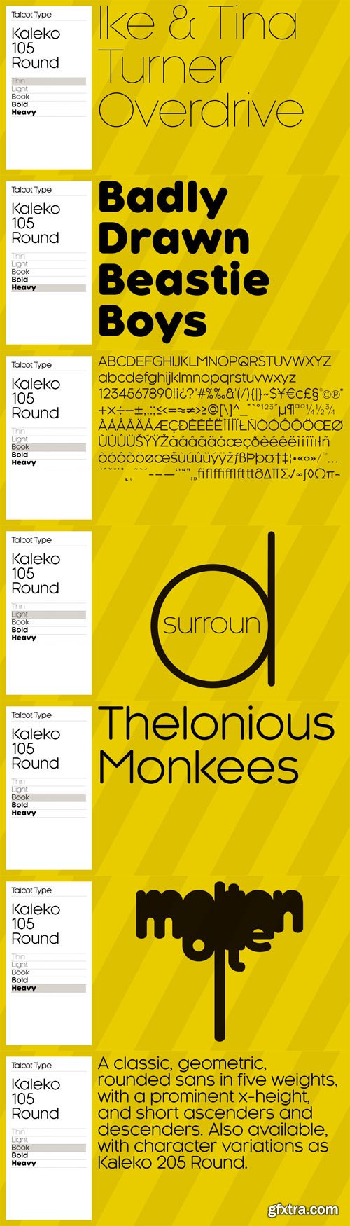 Kaleko 105 Round Font Family - 10 Fonts for $99