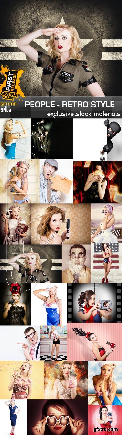People - Retro Style, 25xUHQ JPEG