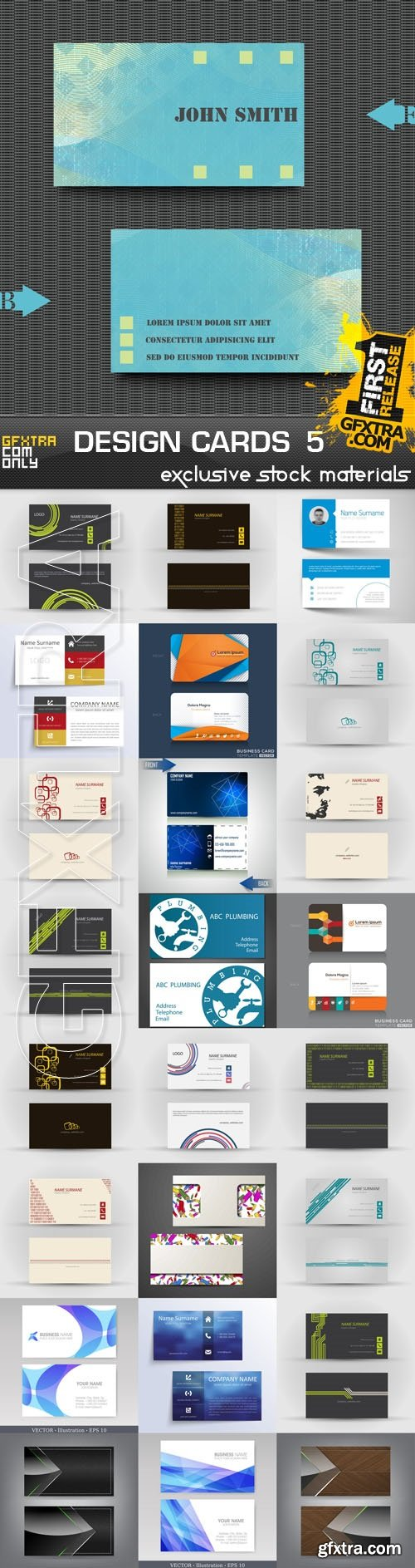 Design Cards Collection 5, 25xEPS