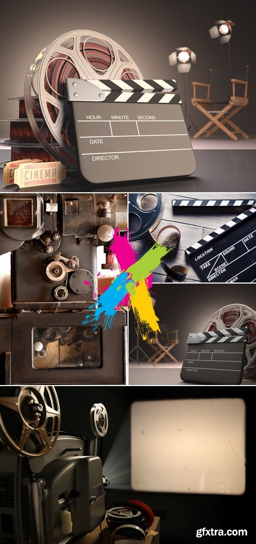 Stock Photo - Retro Cinema Objects