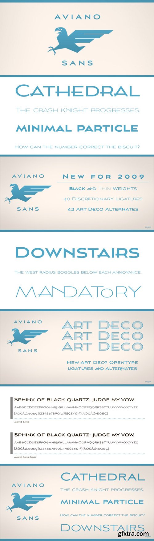 Aviano Sans Font Family - 5 Fonts for $93