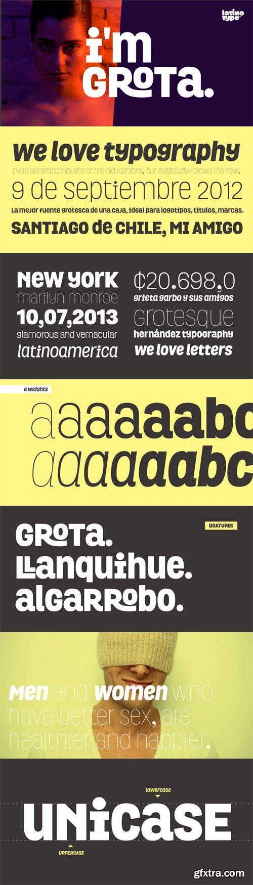 Grota Font Family - 12 Fonts for $126