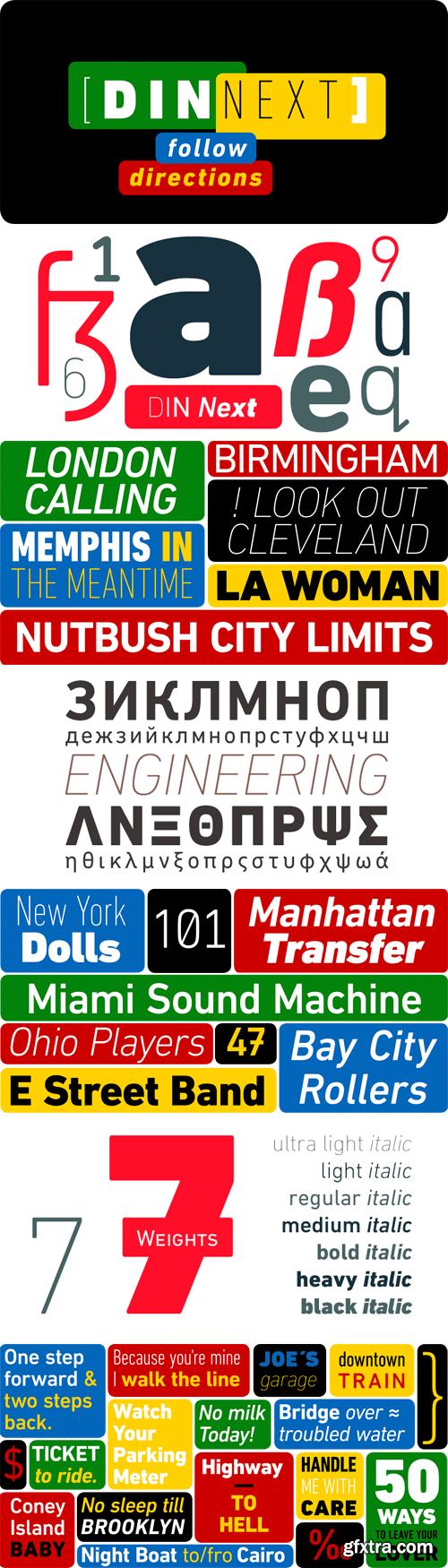 DIN Next Font Family - 49 Fonts for $1228