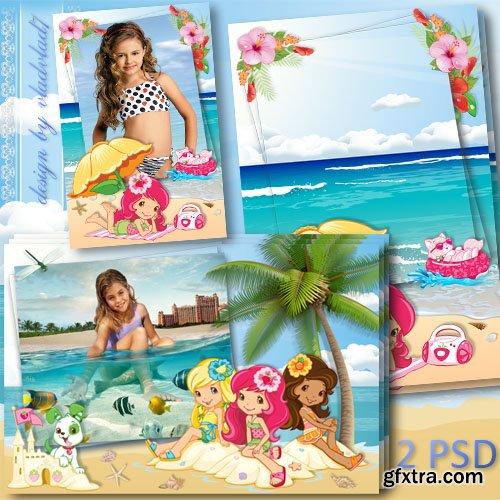 Marine photo frames for girls - Strawberry Shortcake