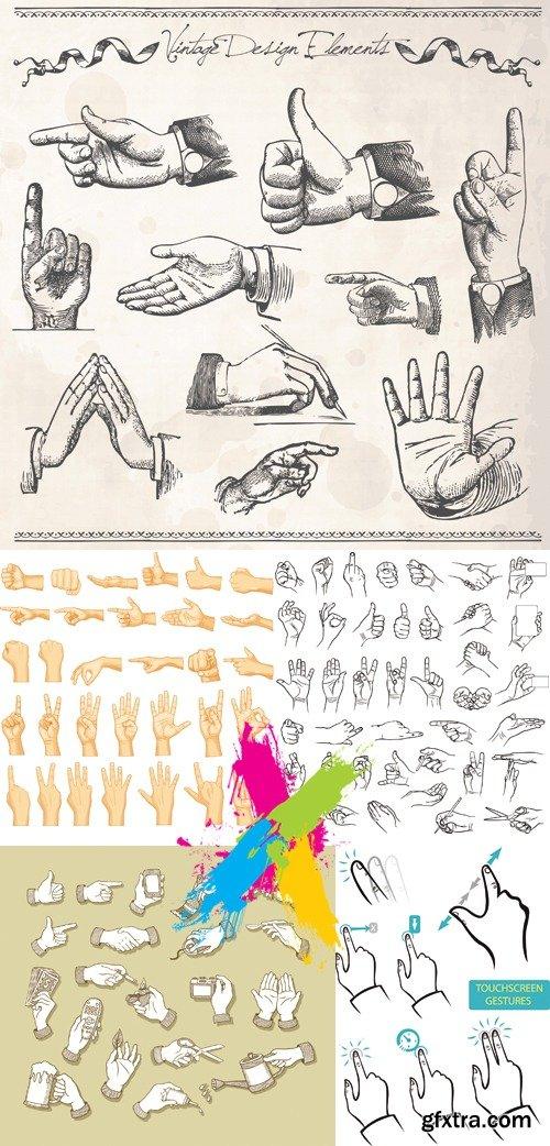 Various Hand Gestures Vector