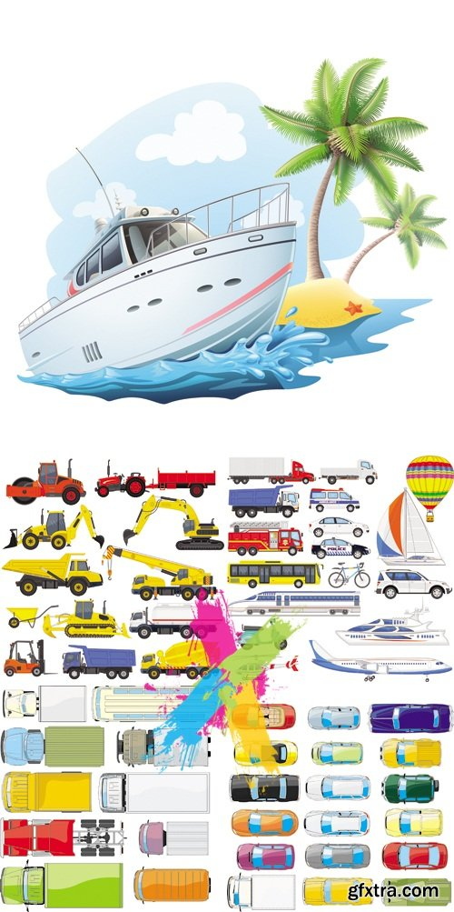 Various Transport Icons Vector