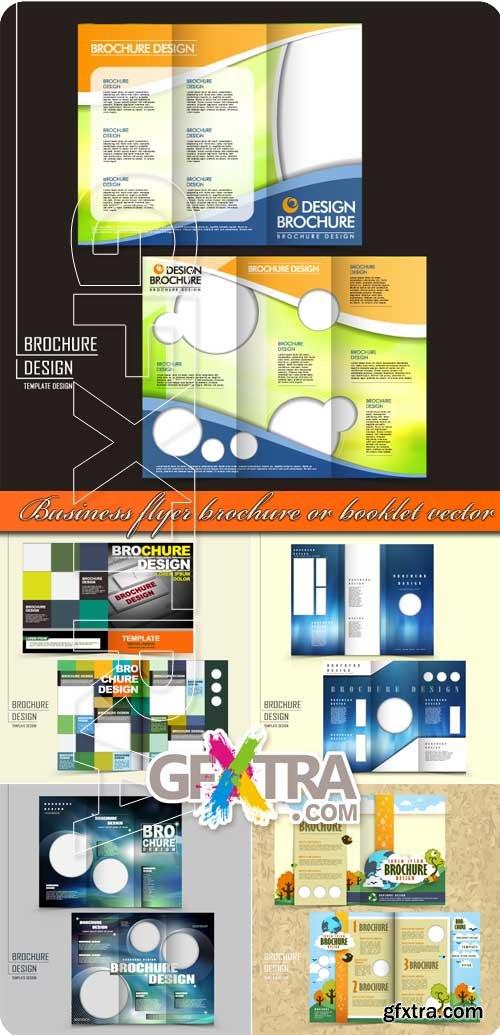 Business flyer brochure or booklet vector