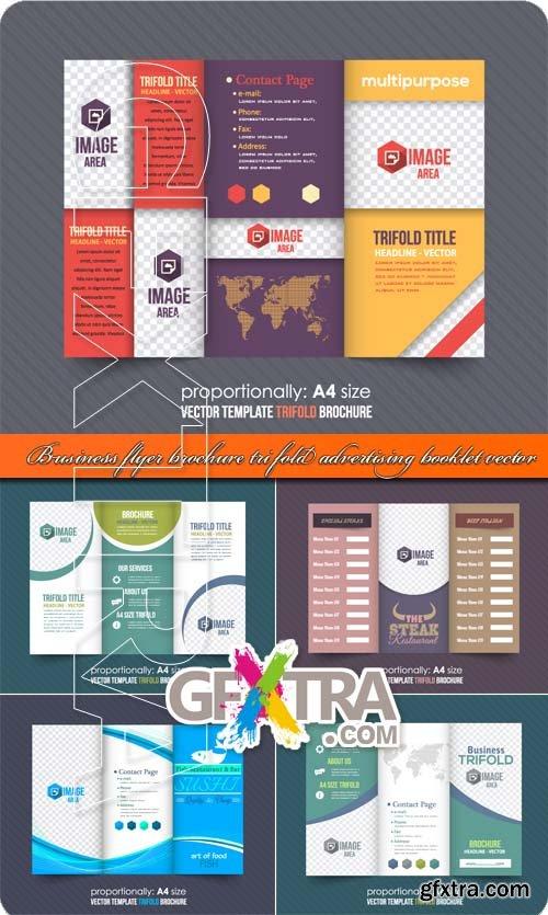 Business flyer brochure tri fold advertising booklet vector
