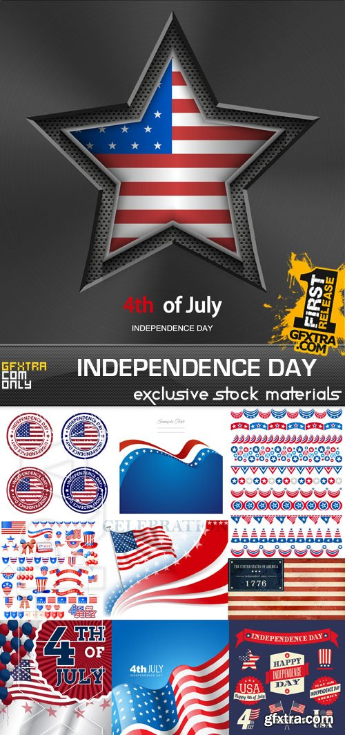 Independence Day - 4th of July, 25xEPS