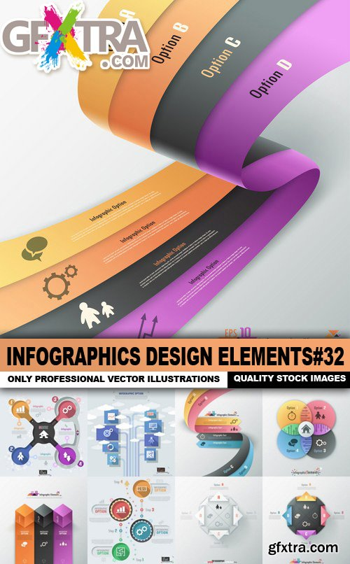 Infographics Design Elements#32 - 25 Vector