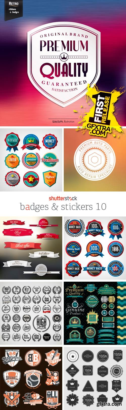 Amazing SS - Badges & Stickers 10, 25xEPS
