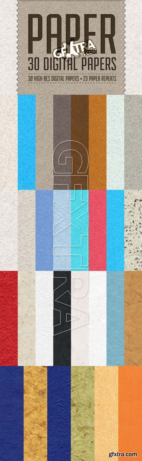Paper Pack - 30 Digital Papers