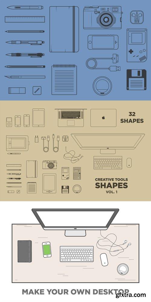 Creative Tools Vector Shapes Vol. 1