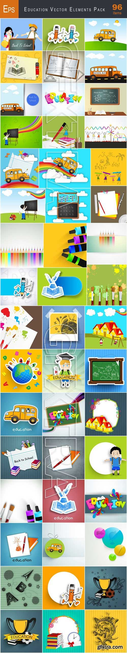 VectorCity Education Vector Elements Pack